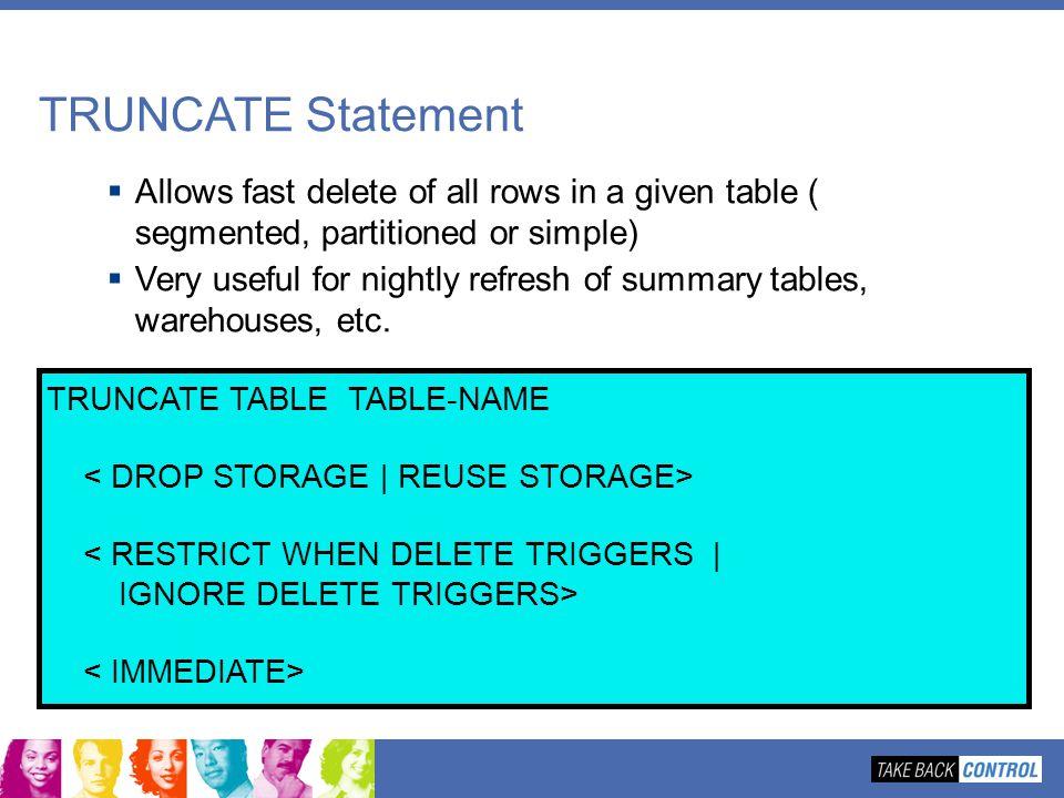 Jeff Josten Db2 For Z Os Development Ppt Download  sc 1 st  Listitdallas & Truncate Table Oracle Drop Storage - Listitdallas