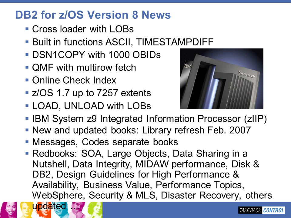 DB2 for z/OS Version 8 News