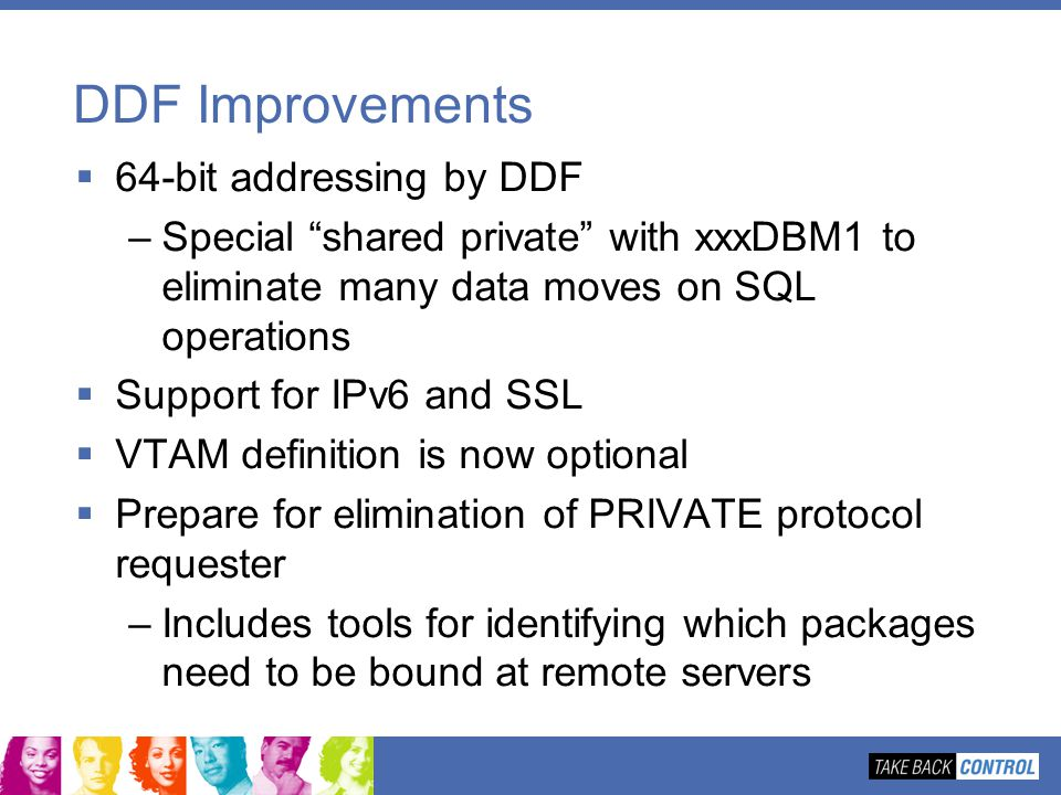 DDF Improvements 64-bit addressing by DDF