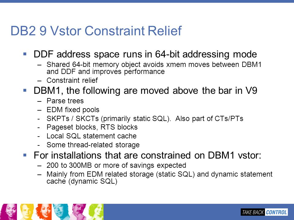 DB2 9 Vstor Constraint Relief