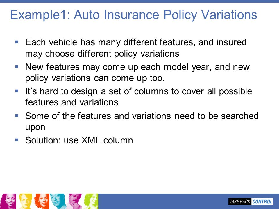 Example1: Auto Insurance Policy Variations