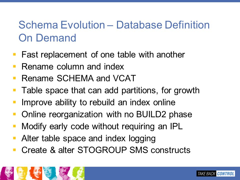 Schema Evolution – Database Definition On Demand