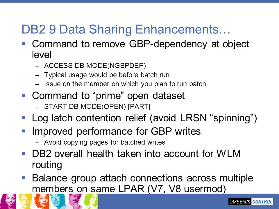DB2 9 Data Sharing Enhancements…