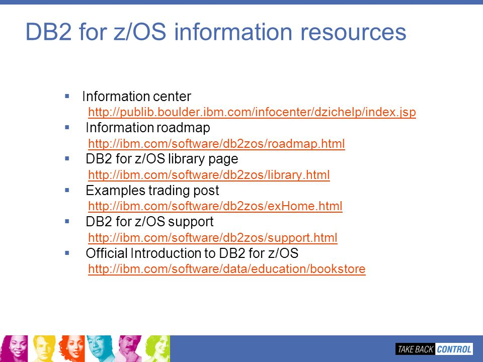 DB2 for z/OS information resources