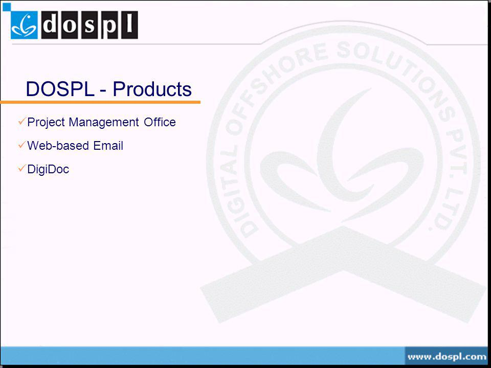 DOSPL - Products Project Management Office Web-based Email DigiDoc