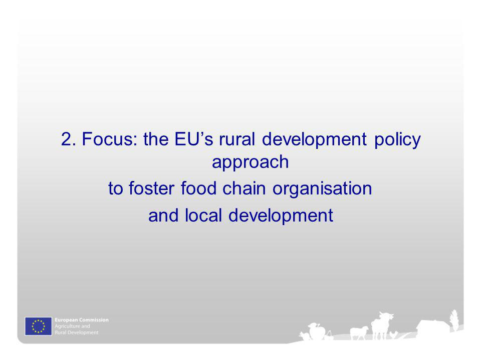 2. Focus: the EU's rural development policy approach
