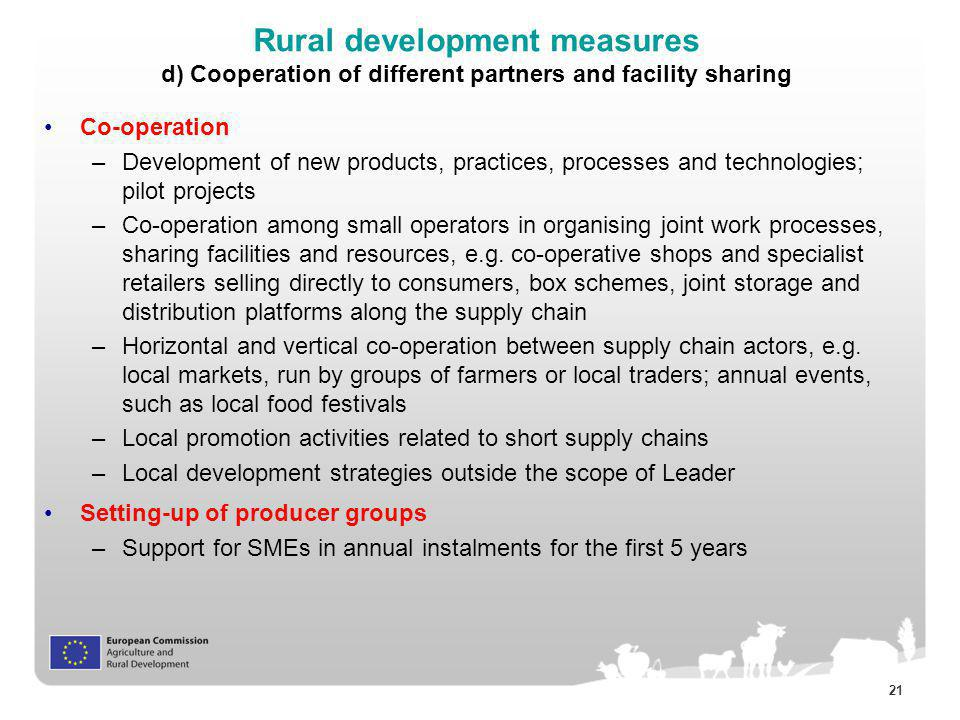 Rural development measures