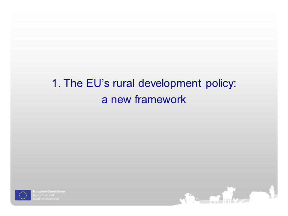 The EU's rural development policy: