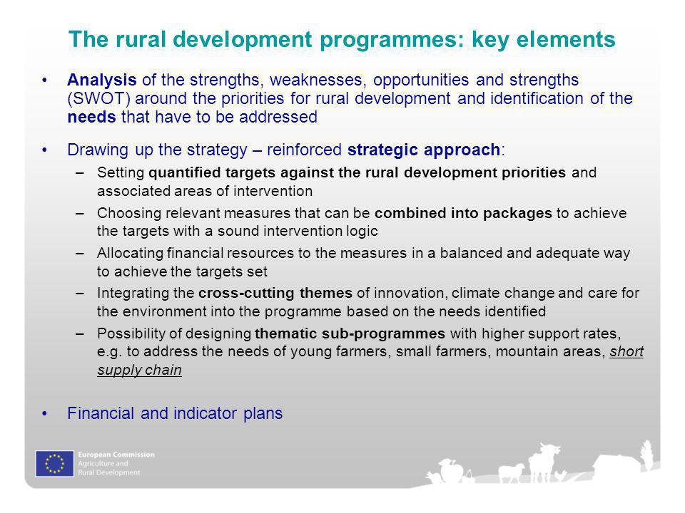 The rural development programmes: key elements