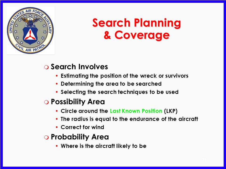 Search Planning & Coverage