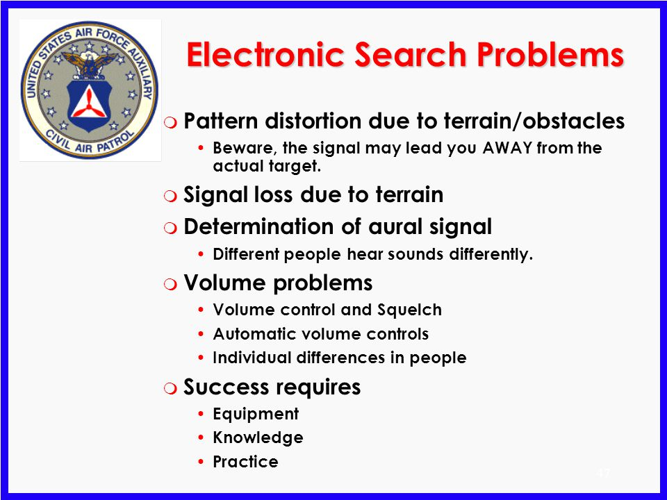 Electronic Search Problems