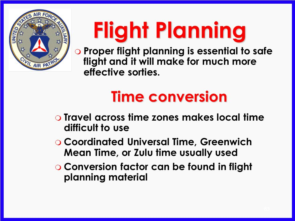 Flight Planning Time conversion
