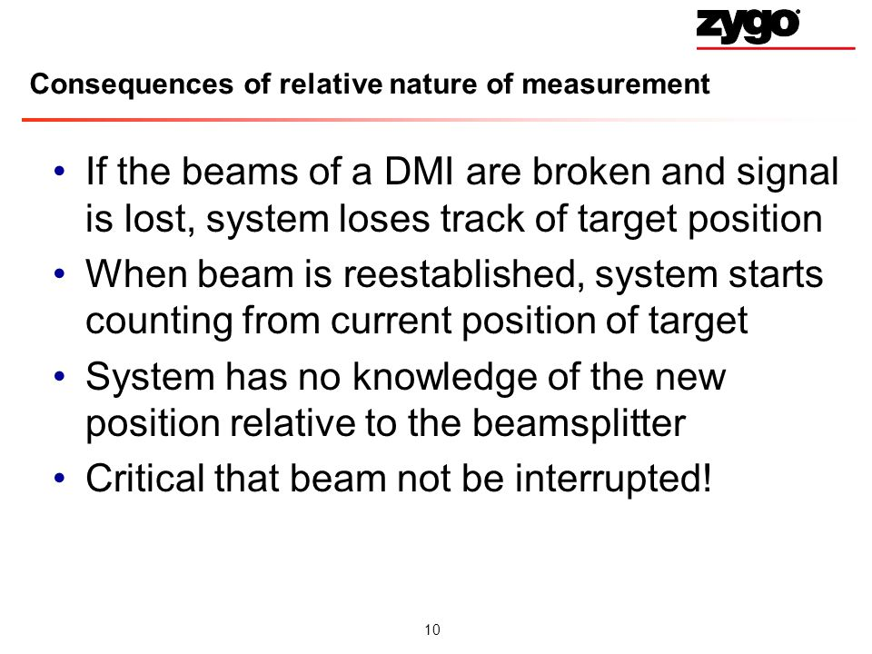 Consequences of relative nature of measurement