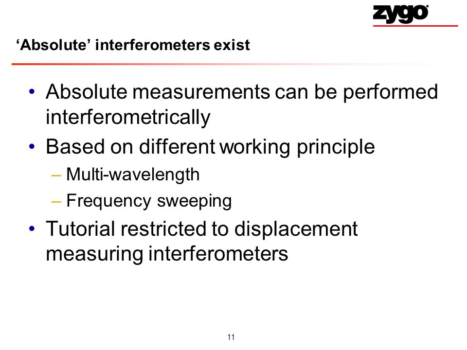 'Absolute' interferometers exist