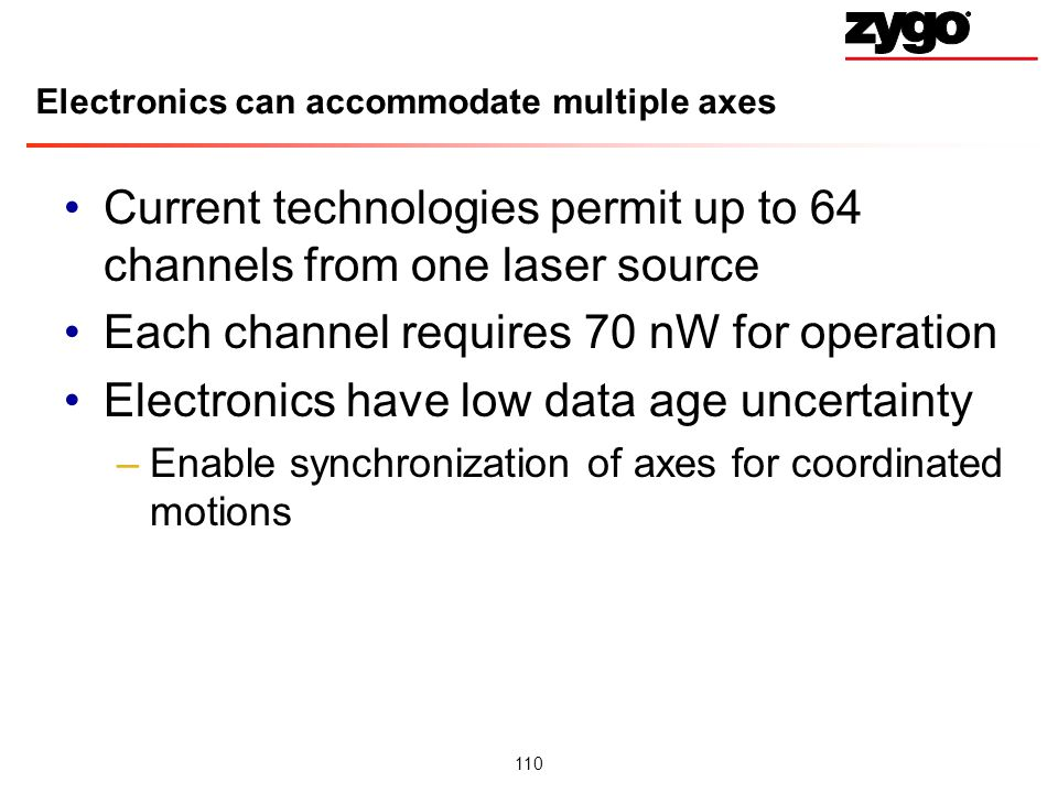 Electronics can accommodate multiple axes