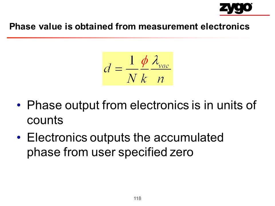 Phase value is obtained from measurement electronics