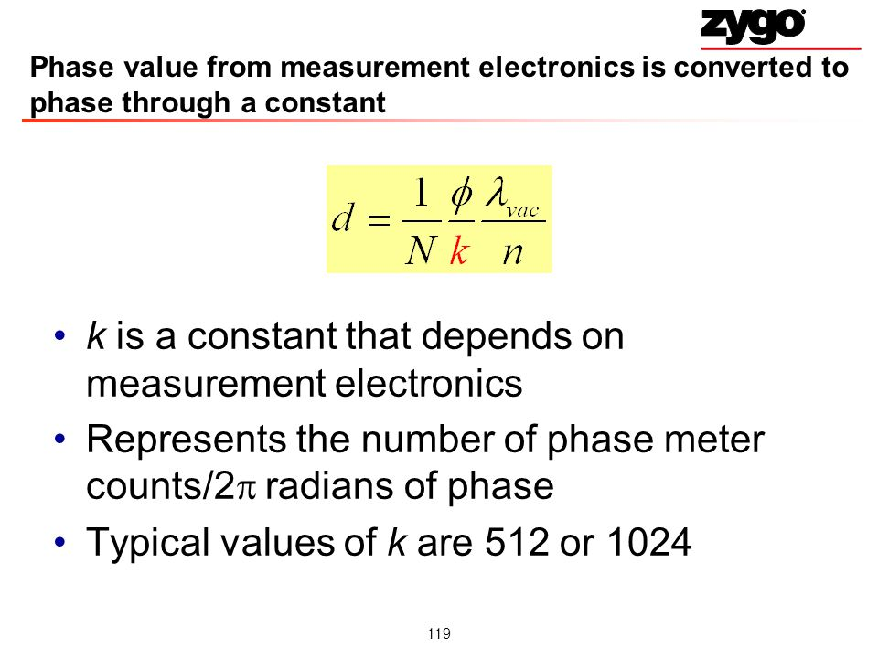 k is a constant that depends on measurement electronics