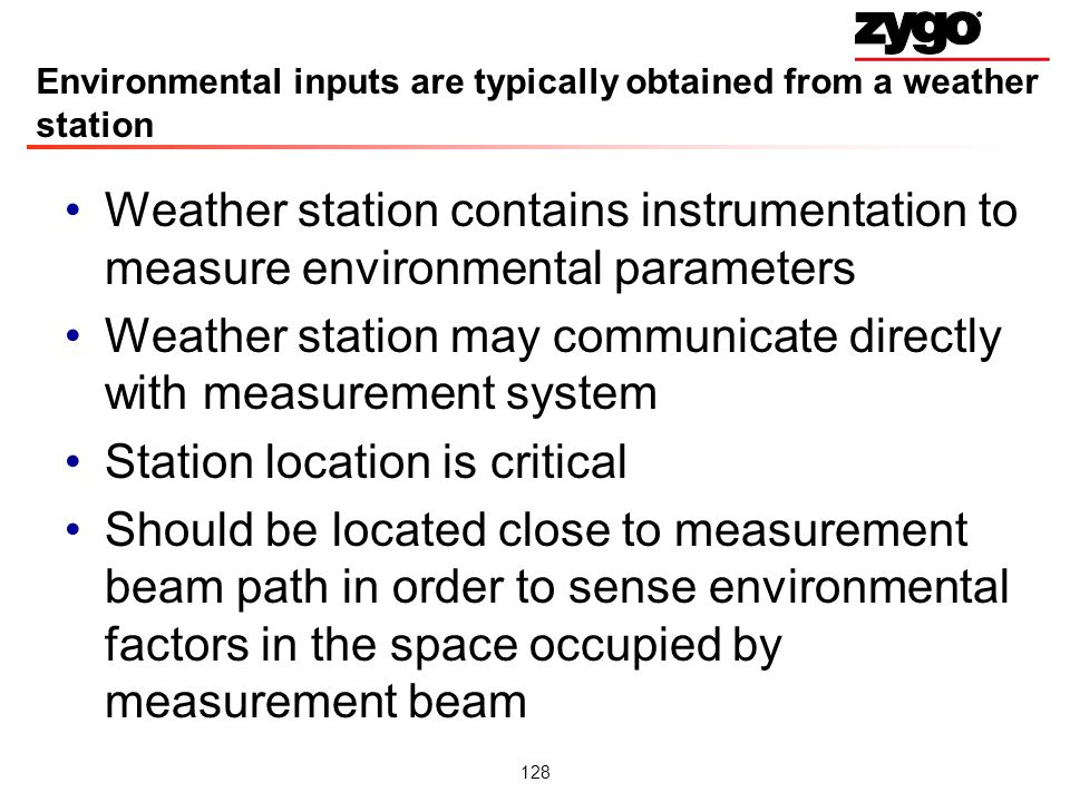 Environmental inputs are typically obtained from a weather station