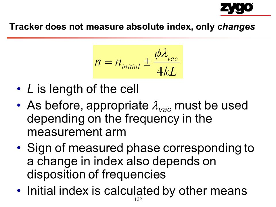 Tracker does not measure absolute index, only changes
