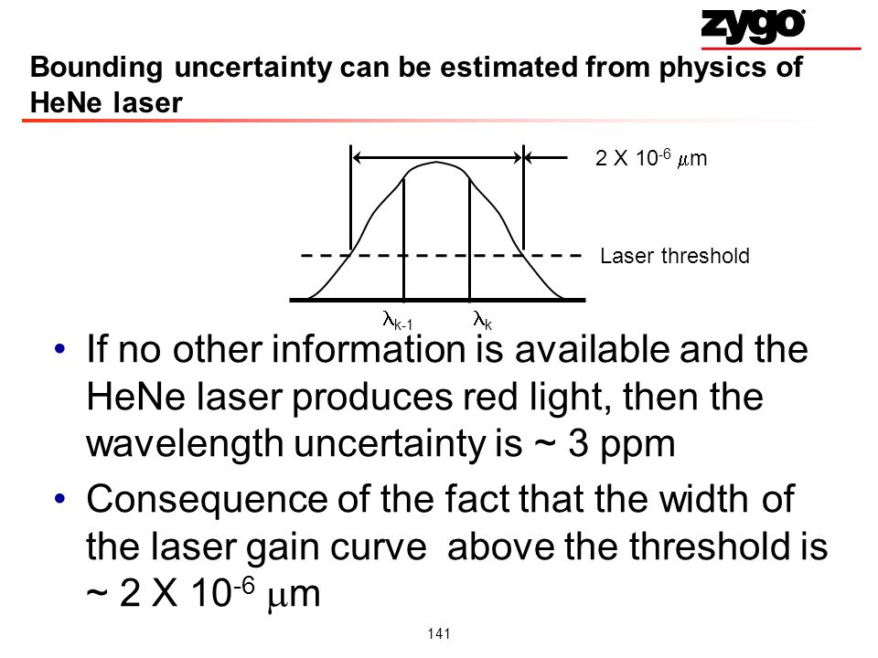 Bounding uncertainty can be estimated from physics of HeNe laser
