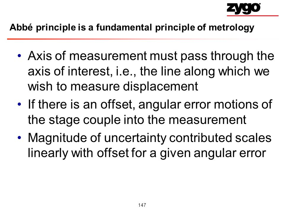 Abbé principle is a fundamental principle of metrology