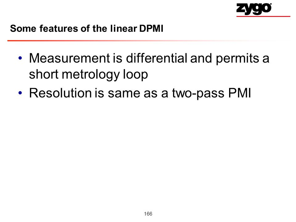 Some features of the linear DPMI
