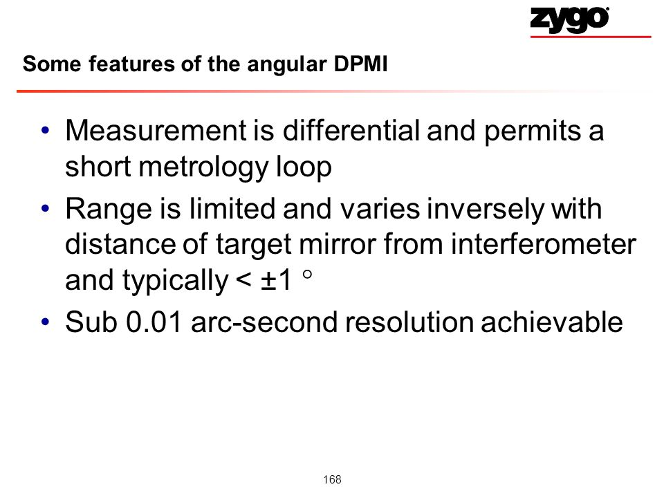 Some features of the angular DPMI