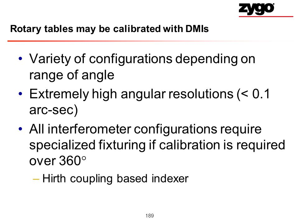 Rotary tables may be calibrated with DMIs