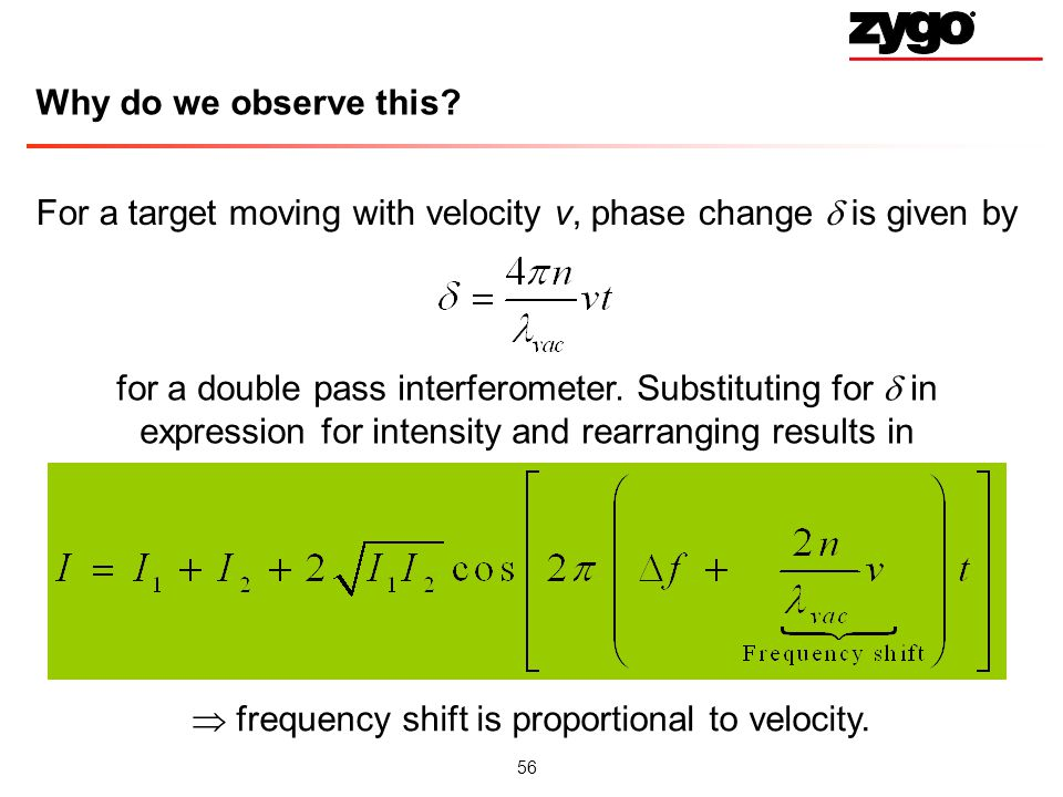 For a target moving with velocity v, phase change  is given by
