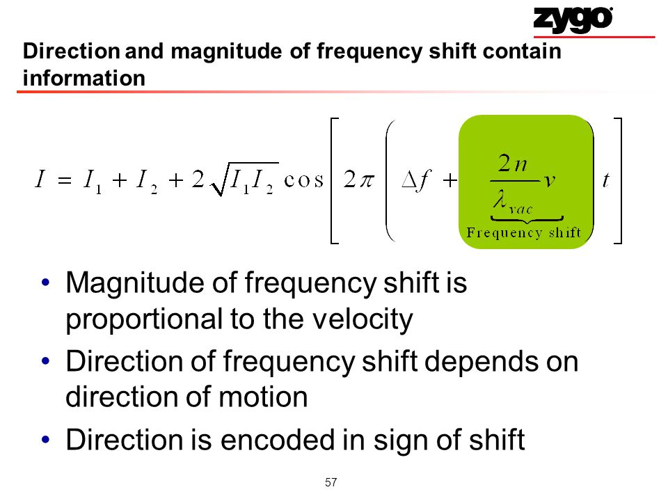 Direction and magnitude of frequency shift contain information