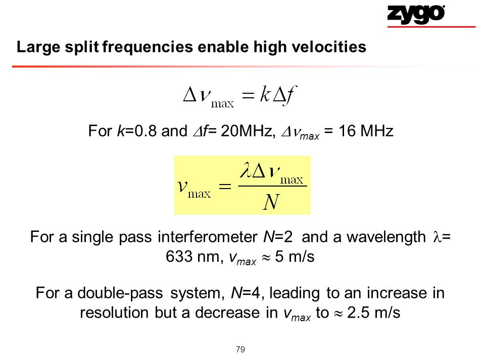 Large split frequencies enable high velocities