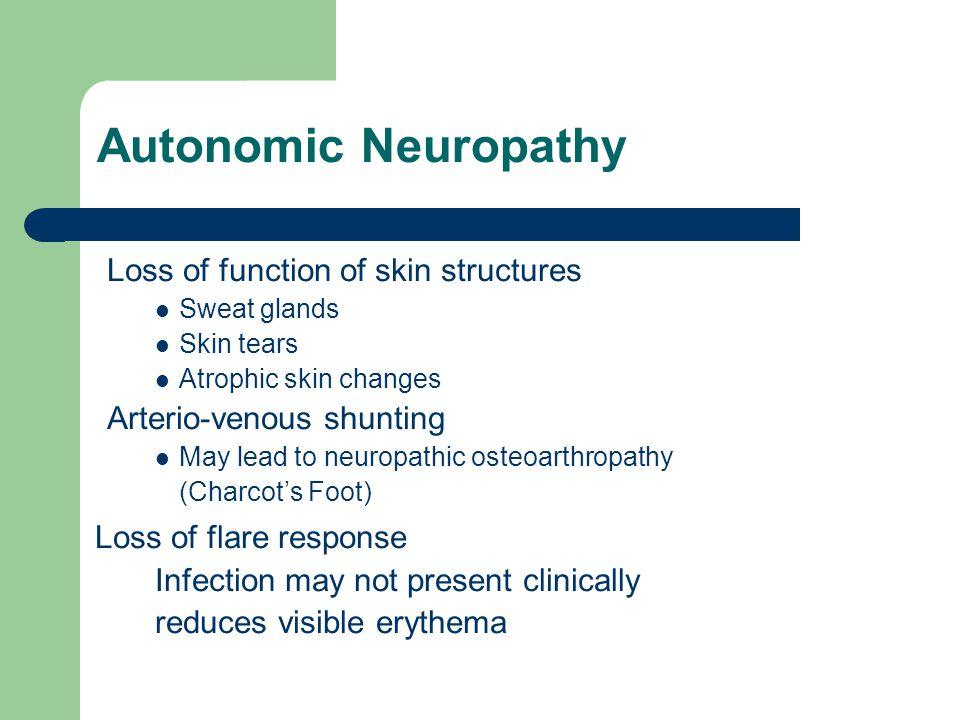 Autonomic Neuropathy Loss of flare response