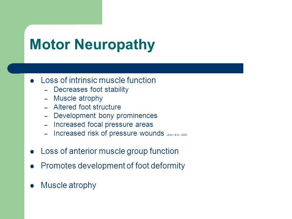 Feet facts fallacies fetishes the role of podiatry for What is motor neuropathy