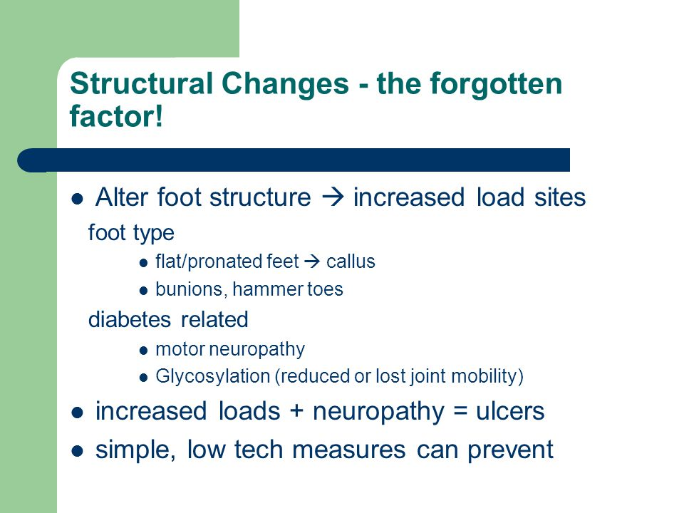 Structural Changes - the forgotten factor!