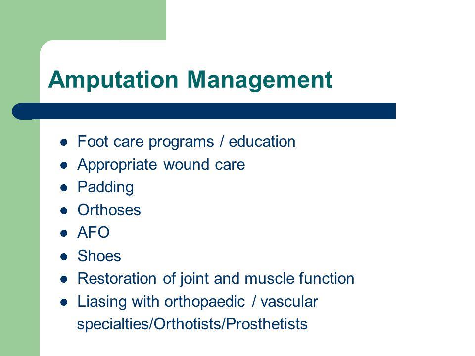 Amputation Management