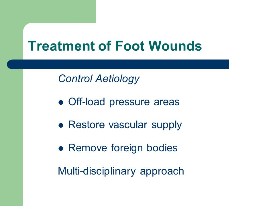 Treatment of Foot Wounds