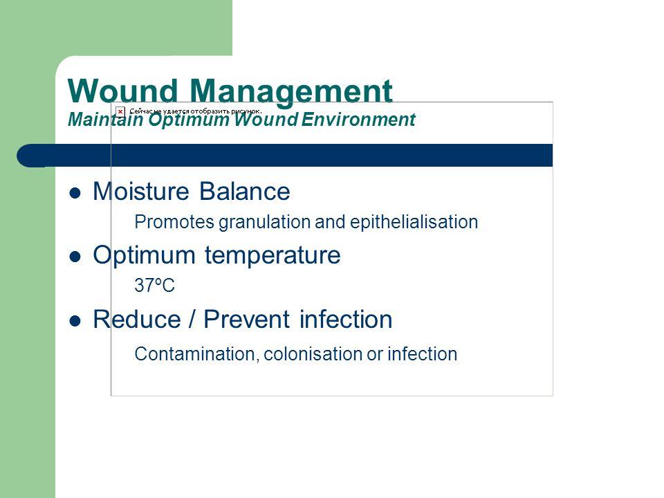 Wound Management Maintain Optimum Wound Environment