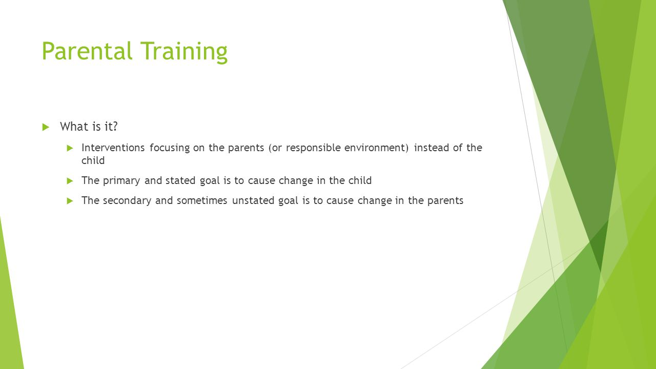 Parental Training What is it