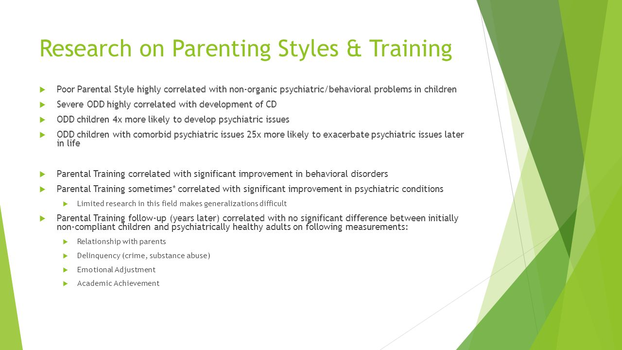 Research on Parenting Styles & Training