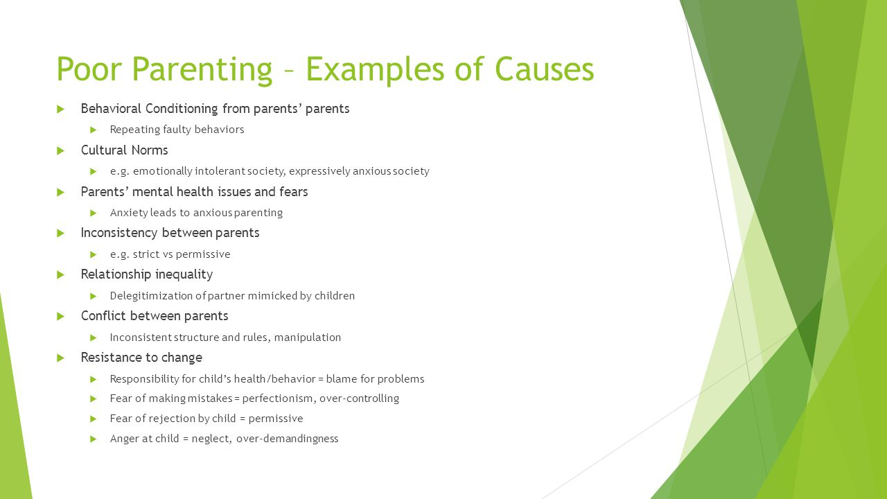 Poor Parenting – Examples of Causes