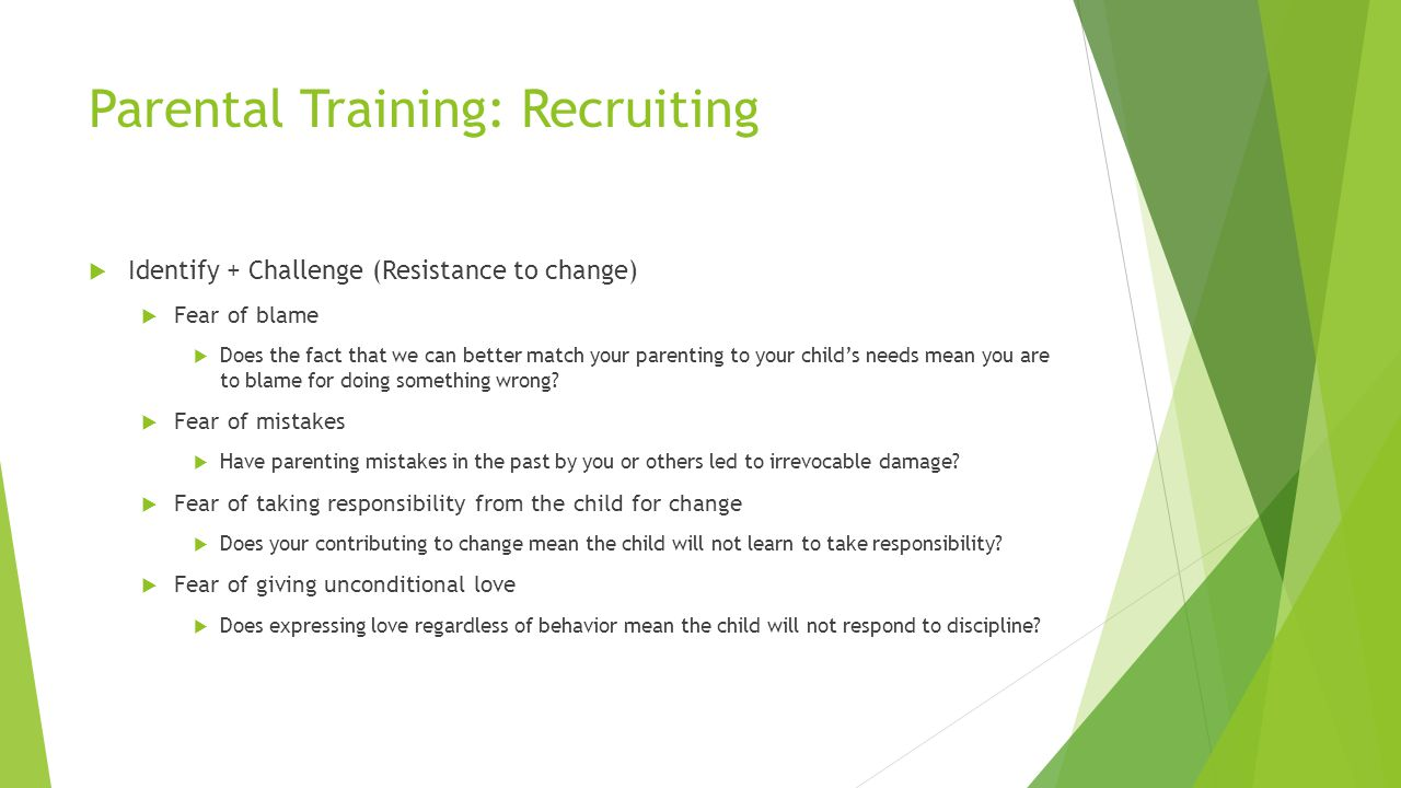 Parental Training: Recruiting