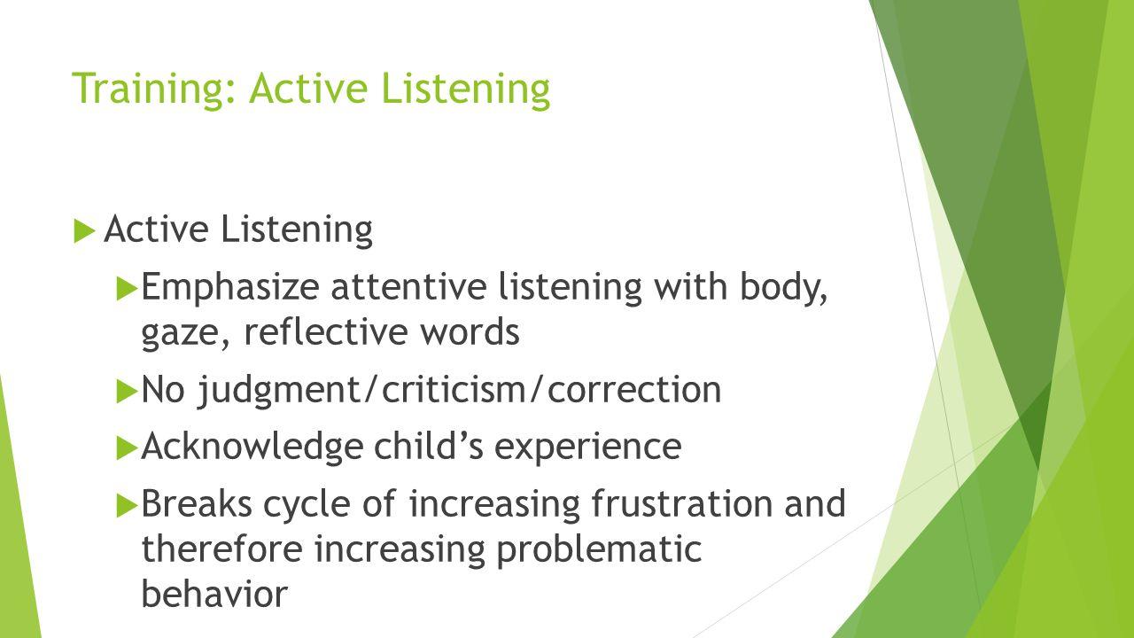 Training: Active Listening