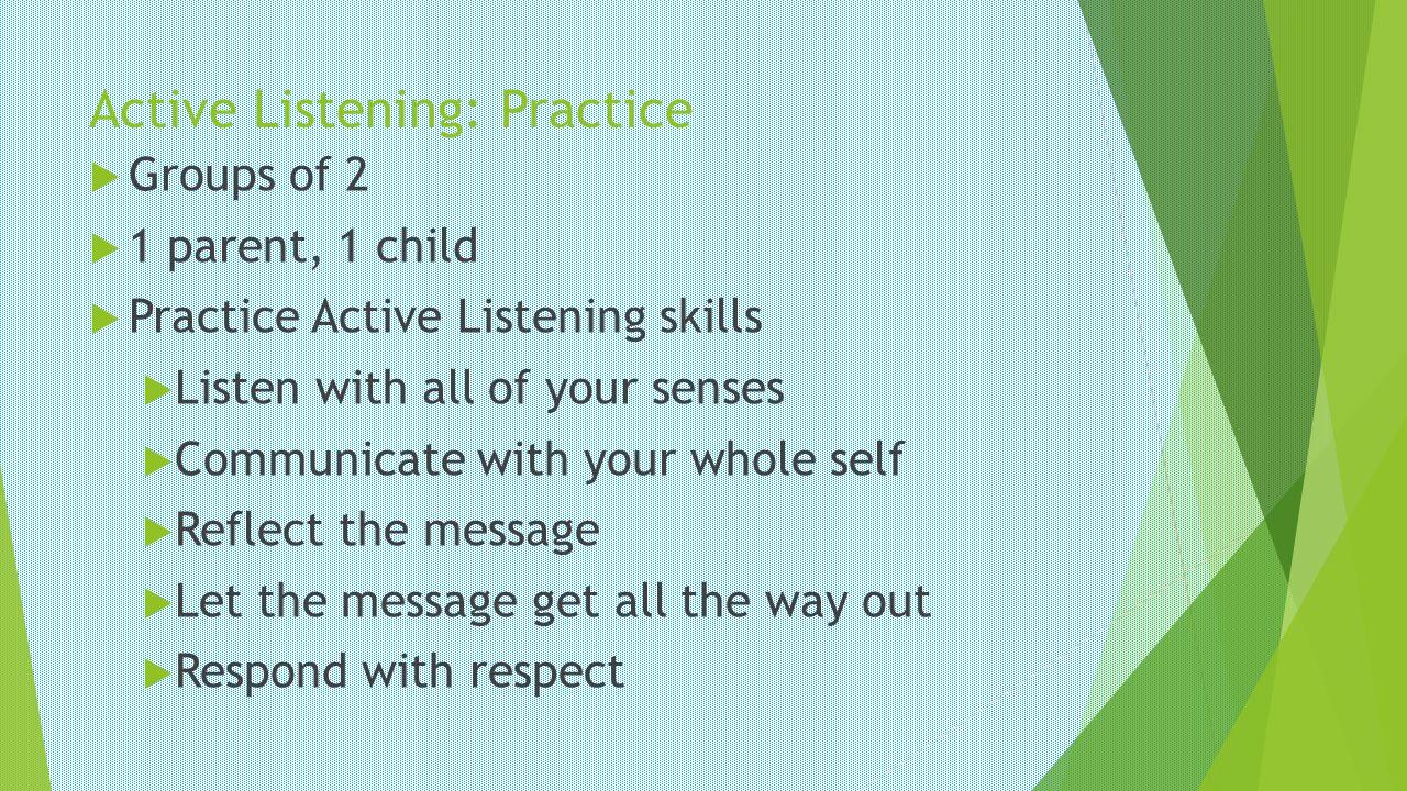 Active Listening: Practice