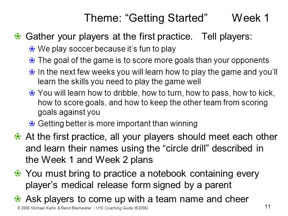 Theme: Getting Started Week 1