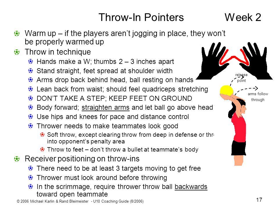 Throw-In Pointers Week 2