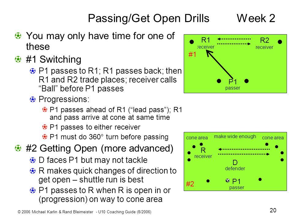 Passing/Get Open Drills Week 2