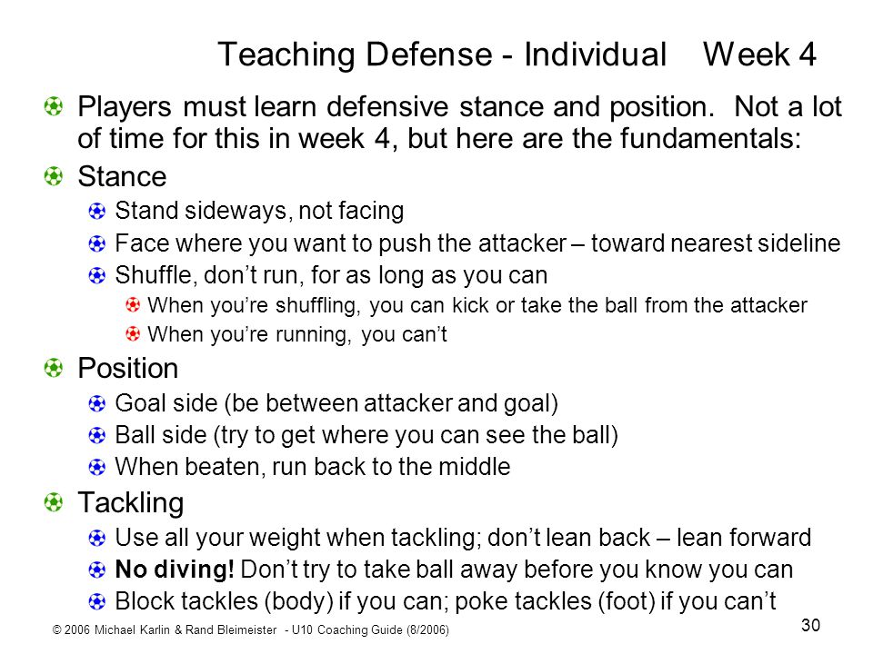 Teaching Defense - Individual Week 4