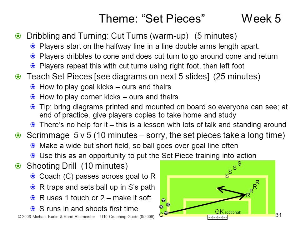 Theme: Set Pieces Week 5