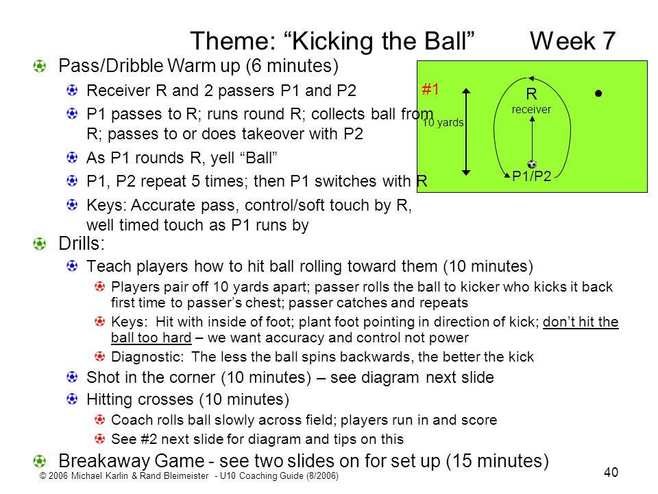 Theme: Kicking the Ball Week 7