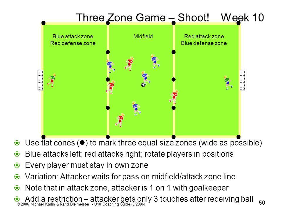 Three Zone Game – Shoot! Week 10
